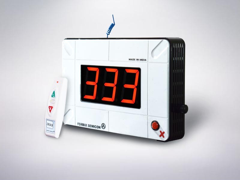 Wireless token display for OPD with 3 digit up down counter
