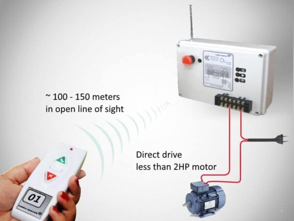 wireless remote motor control, water pump control on/off from a remote location