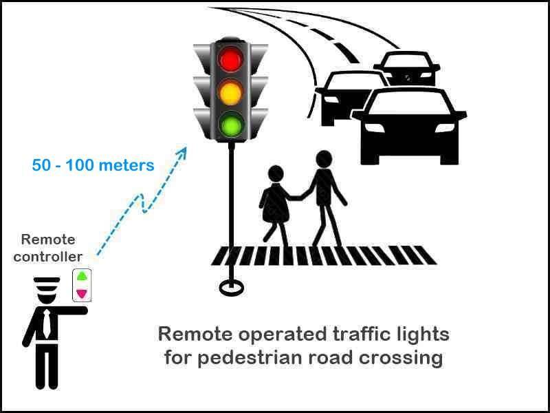 FORBIX SEMICON remote control traffic light for pedestrian crossing