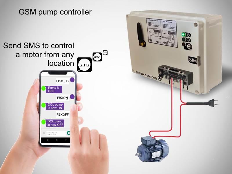 GSM manual pump controller, FORBIX SEMICON